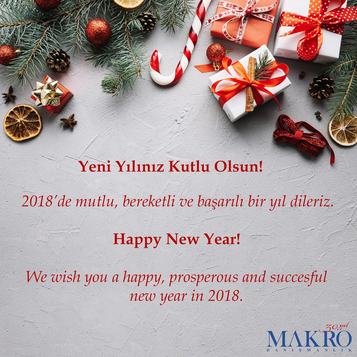 MAKRO New Year Greetings for 2018 – Makro Danışmanlık